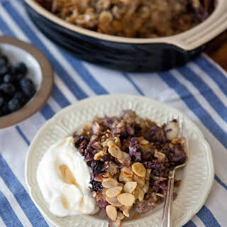 Blueberry Baked Buckwheat Oatmeal.