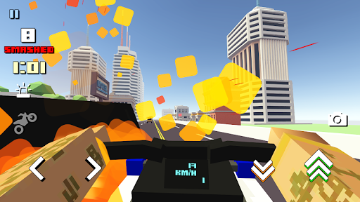 Blocky Moto Racing 🏁 screenshot 5