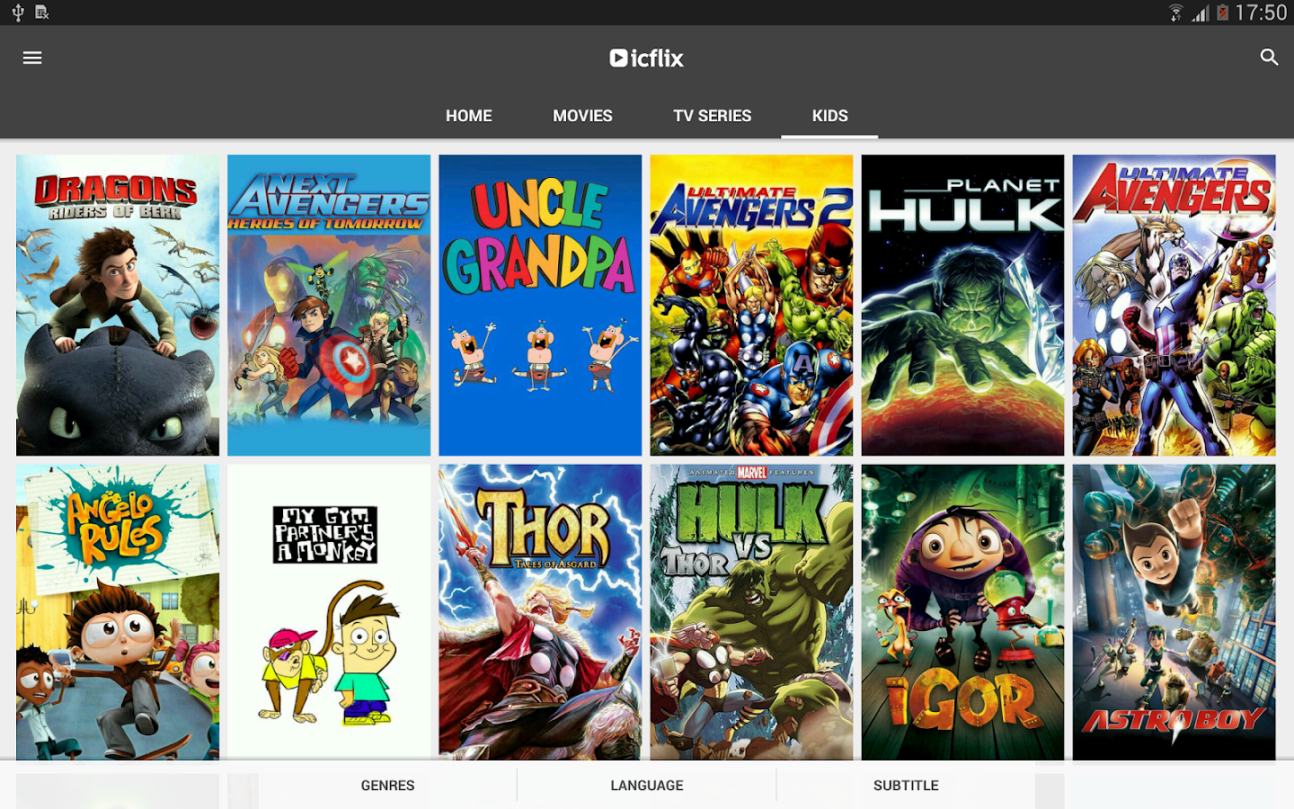ICFLIX- screenshot