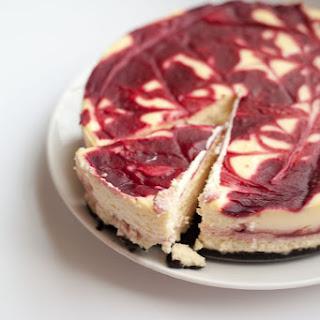 White Chocolate Raspberry Cheesecake.
