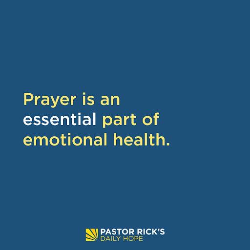 Prayer Recovers Emotional Health