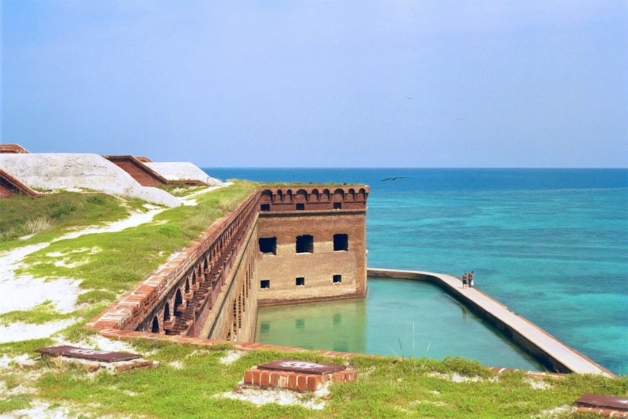 Fort Jefferson by Chris Snyder - Novices Only Landscapes ( building, dry tortugas national park, fort jefferson, civil war, ocean, beach, fort, nps, national park, fl, florida, fortification, historical, dry tortugas,  )