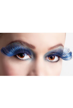 Lösögonfransar, svart/blå