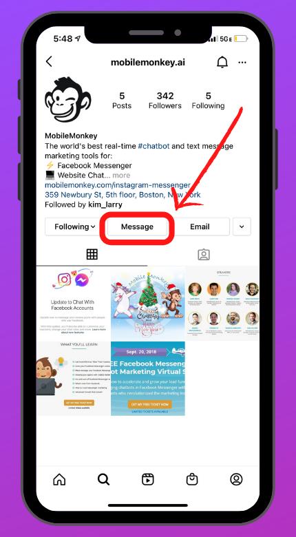 MobileMonkey Instagram