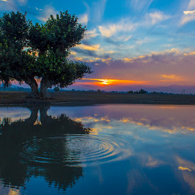by Umair Khan - Landscapes Sunsets & Sunrises ( , reflection, reflections, mirror )