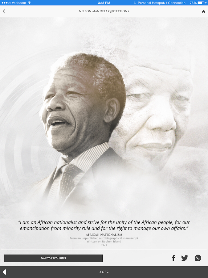 Nelson Mandela Quotations- screenshot