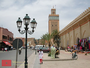 Photo: The Kasbah Mosque in Marrakech, constructed in 1190, is probably the second-best-known mosque in Marrakech and it is also one of the biggest mosques. Hidden behind this mosque is the Saadian Tombs.