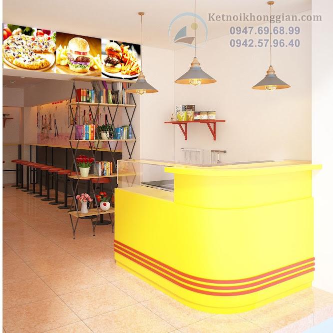 thiết kế cửa hàng đồ ăn nhanh độc đáo, đặc biệt hơn những quán khác