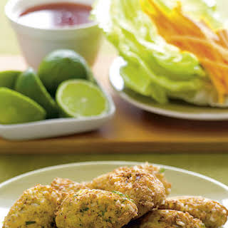 Tofu Fritters with Sweet Chili Sauce.