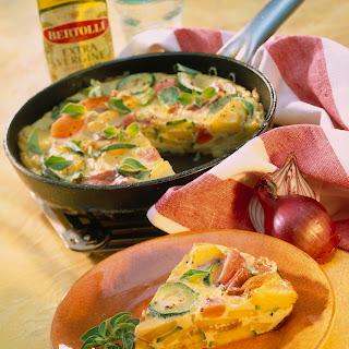 Frittata mit Gemüse und Coppa