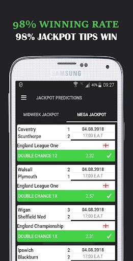 Download Jackpot Predictions- Midweek and Mega Jackpot Tips