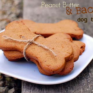 Peanut Butter & Bacon Dog Treats {Gluten-Free}