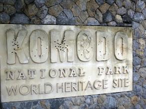 Photo: Entrance to Komodo National Park