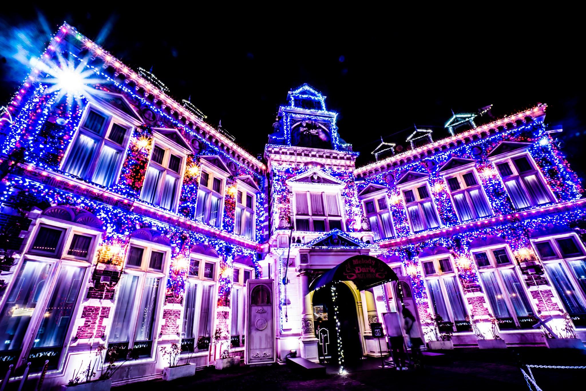 ハウステンボス イルミネーション 光の王国 スリラーシティ2