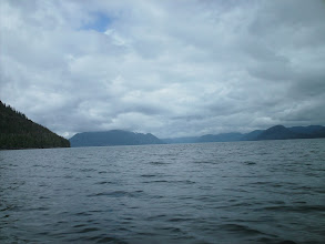 Photo: Looking north up Finlayson Channel with Cone Island on the left.