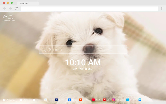 Cute dog pop pet HD new tab page theme