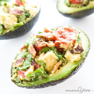 BLT Stuffed Avocado (Paleo, Low Carb).