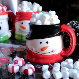 Peppermint Crockpot Hot Chocolate