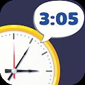 Talking clock in English icon
