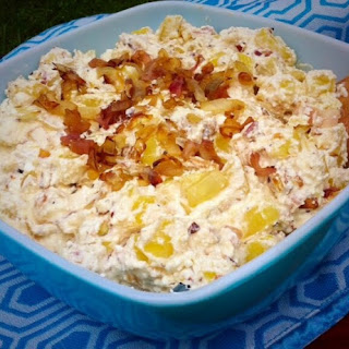 Warm Caramelized Onion and Cheese Pierogi Potato Salad