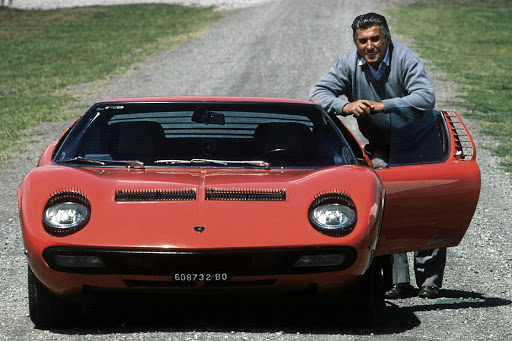 Ferrucio Lamborghini was a tractor manufacturer who turned to making sports cars (like the pictured Miura) after being insulted by Enzo Ferrari. Picture: SUPPLIED