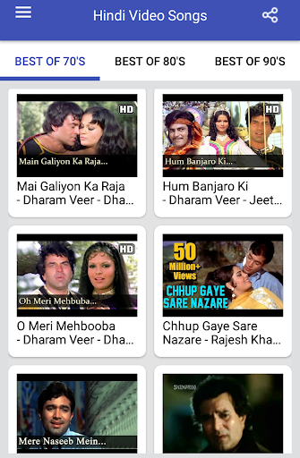 Hindi Video Songs : Best of 70s 80s 90s 1.0.5 screenshots 21