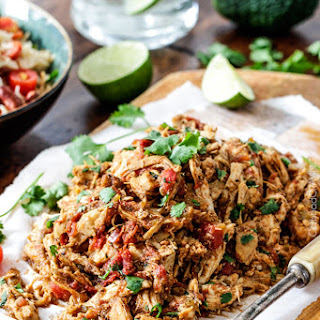 Slow Cooker Shredded Mexican Chicken