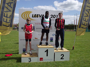 Photo: Daniel Ryan, 2nd in the Boys U/14 75m Hurdles at Leevale Open Sports 2012