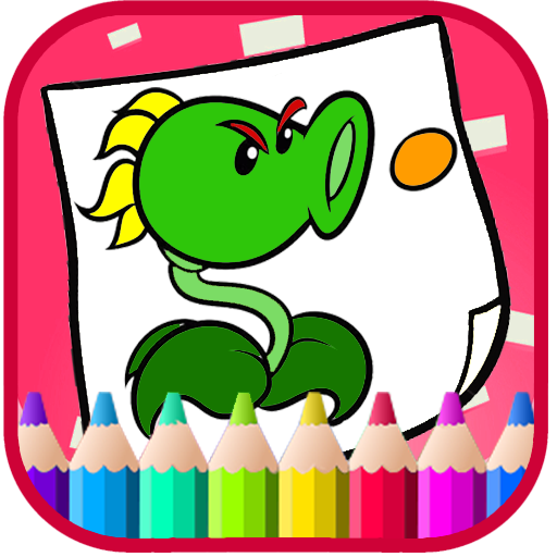 Art vs coloring Zombie plant Cartoon Games (game)
