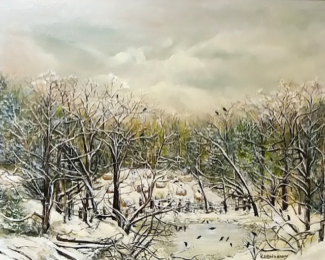 """Winter's Lull"" by Dimitrina Stamboldjiev Kutriansky. Oil on Canvas. 16""x20"". $600."