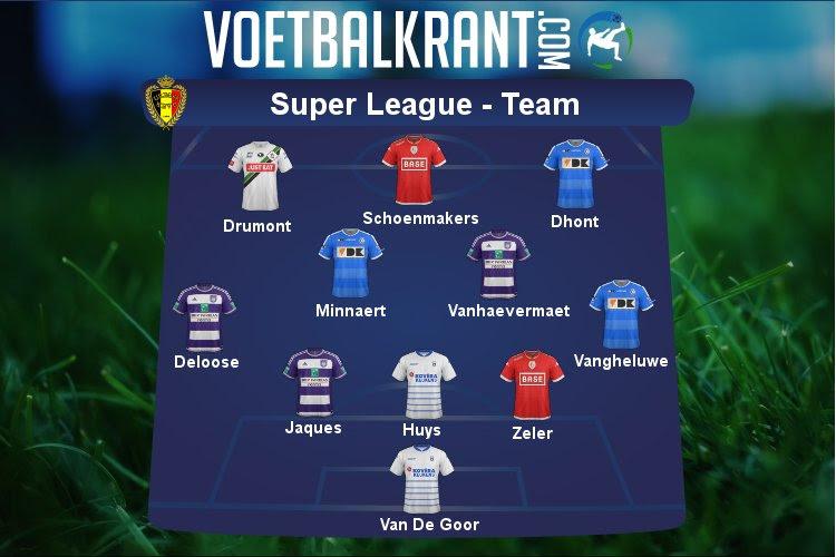 Ons team van de week in de Super League: Anderlecht en Gent hofleverancier van de week