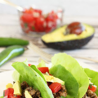 Ground Beef and Mushroom Lettuce Tacos.