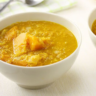 Pumpkin & Red Lentil Soup.
