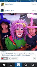Photo: Little girls love balloon twisted crowns just as much as they love Bibbi the Clown!