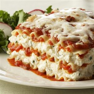 Ricotta Cheese Lasagna.