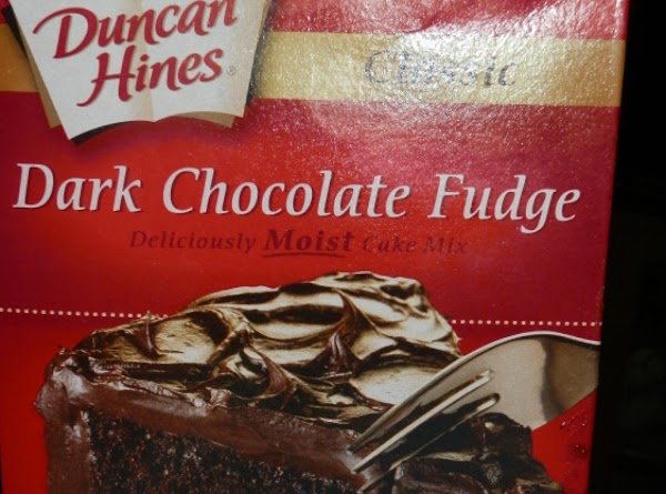 These are a very chocolatey, fudgy, chewy cookie. I used the chocolate fudge cake...