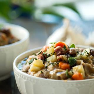 Italian Borlotti Beans and Potato Soup.
