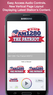 AM 1280 The Patriot WWTC- screenshot thumbnail