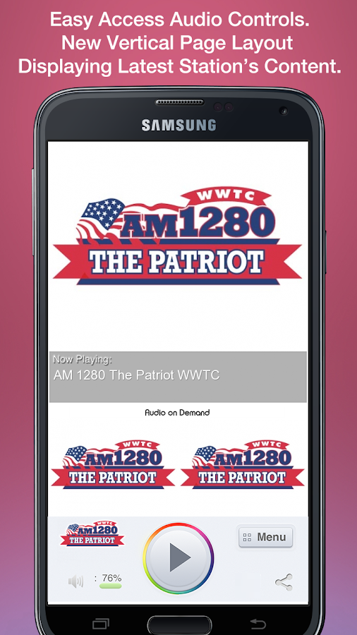 AM 1280 The Patriot WWTC- screenshot