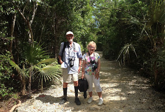 Photo: Dr. and Mrs R.R. Askew on the Woodland Trail at the Queen Elizabeth II Botanic Park. Photo: Ann Stafford, Grand Cayman, Oct. 23, 2015.