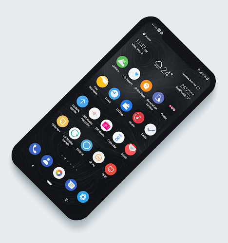 Download Theme Android Q Black for LG G7 APK latest version