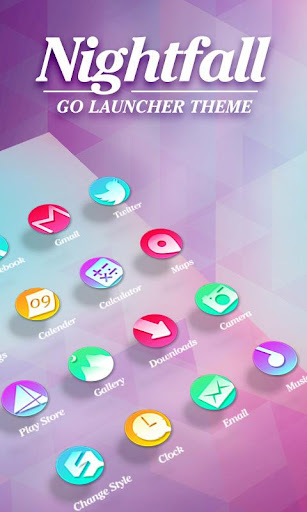 Nightfall GO Launcher Theme