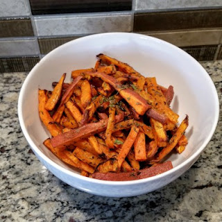 Baked Sweet Potato Fries with Herbs
