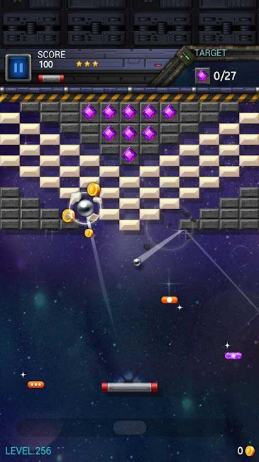 #10. Brick Breaker Star: Space King (Android)