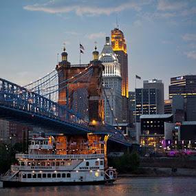 Cincinnati Sunset by Tiffany Bailey - City,  Street & Park  Skylines