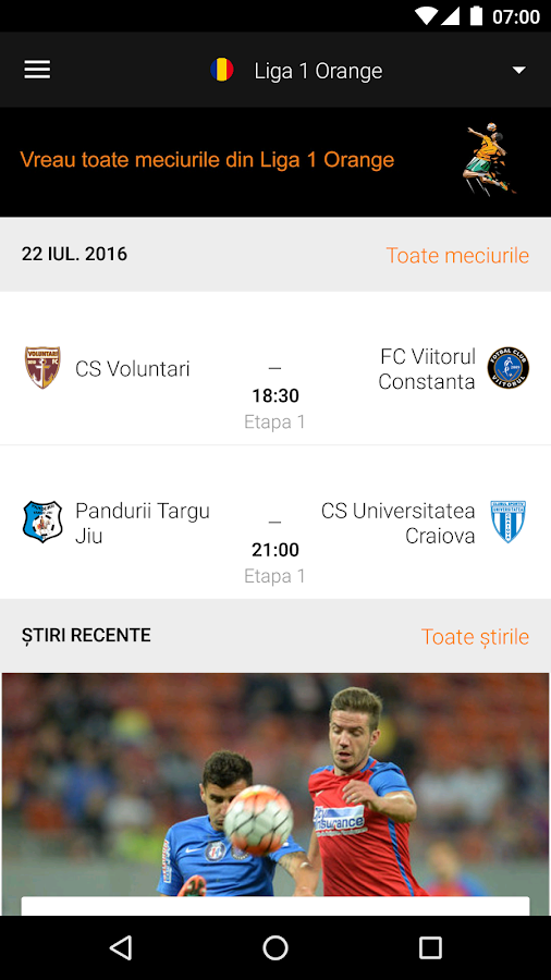 Fotbal Info de la Orange- screenshot