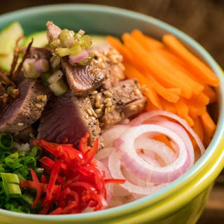 Seared Tuna with Pickled Vegetables Rice Recipe