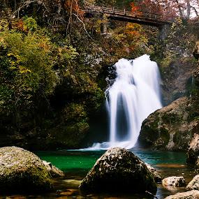 Waterfall Šum 2 by Boris Podlipnik - Landscapes Waterscapes ( water, fall, waterfall, bridge, river,  )
