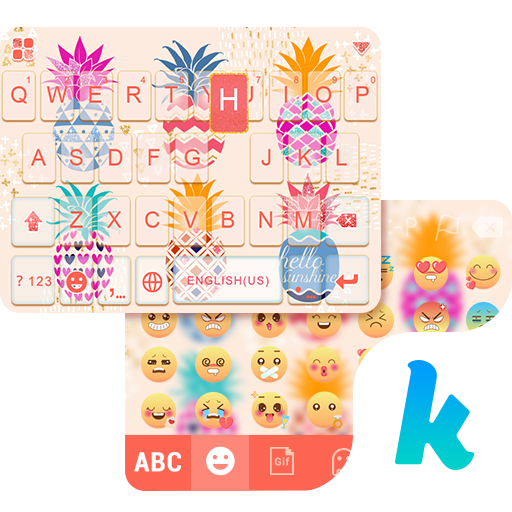 Pineapple Kika Keyboard Theme 生產應用 LOGO-玩APPs