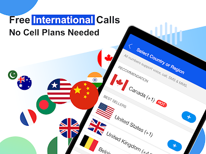 Free phone calls, free texting SMS on free number App Download For Android and iPhone 7